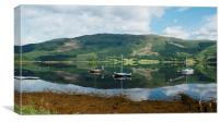 loch reflection, Canvas Print