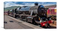 the jacobite 45407 steam train , Canvas Print