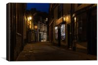 Whitby at night, Canvas Print