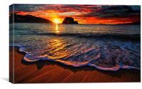 wonderful sunset, Canvas Print