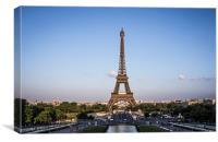 Eiffel Tower at last summer light, Canvas Print