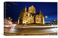 Norwich Roman Catholic Cathedral at night, Canvas Print