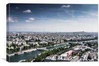 River Seine, Paris, France, Canvas Print