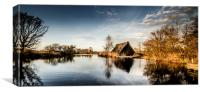 Golden Hour at the Boat House, Canvas Print