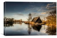 Boat House Golden Hour, Canvas Print