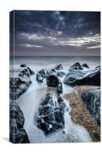 Jagged rocks, Canvas Print