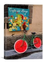 Bicycle with Melon Wheels, Canvas Print