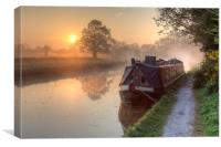 Hatton - Grand Union Canal., Canvas Print