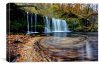 Sgwd Ddwli Uchaf - Waterfall, Wales, Canvas Print