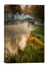 Misty Morning, Stratford Canal, Warwickshire, Canvas Print
