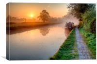 Grand Union Canal, Hatton, Warwickshire., Canvas Print