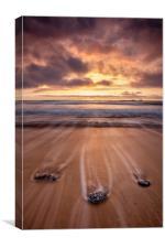 Cornwall Sunset (Constantine Bay), Canvas Print