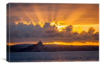 Sunrise at St Michael's Mount Cornwall, Canvas Print