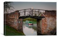 South Stratford Canal, Preston Bagot, Warwickshire, Canvas Print