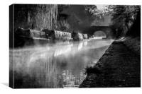 Grand Union Canal Hatton Warwickshire, Canvas Print