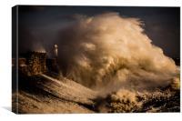 Porthcawl storm Wales, Canvas Print