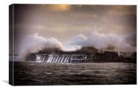 Storm at Porthcawl Bridgend Wales, Canvas Print