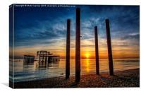 Sunset in Brighton, Canvas Print
