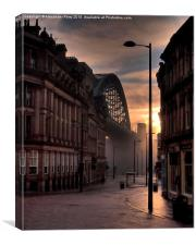 Tyne Bridge from the Side, Canvas Print