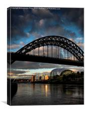 Tyne Bridge Sunset, Canvas Print