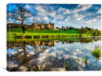 Alnwick Castle Reflections, Canvas Print