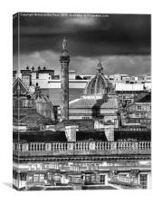 Rooftops, Newcastle upon Tyne, Canvas Print