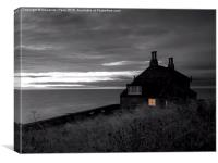 Bathing House, Howick, Canvas Print