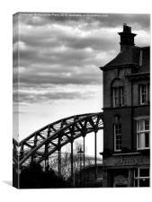 Bridge Hotel, Canvas Print