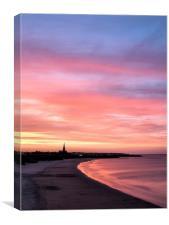 Longsands Sunset, Canvas Print