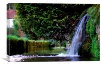 Village Waterfall, Canvas Print