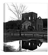 Reflected Ruins, Canvas Print