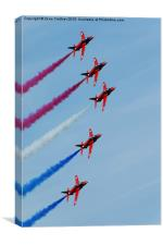 Five Red Arrows, Canvas Print