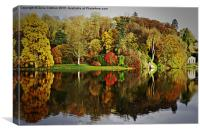 Stourhead Reflection, Canvas Print