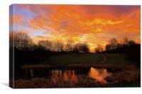 Red sky in the morning shepherds warning , Canvas Print