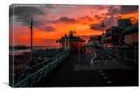 Brighton Prom Sunset, Canvas Print