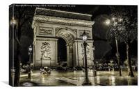 Rain Drops In Paris, Canvas Print