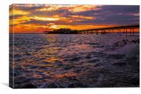 Old Pier Sunset, Canvas Print