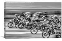 Bike Scramble, Canvas Print