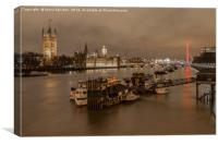 On the Thames, Canvas Print