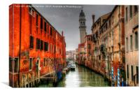 Venice Leaning Bell Tower, Canvas Print