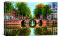 Amsterdam Bridge and Waterways, Canvas Print