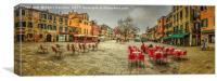 The Plaza Venice, Canvas Print
