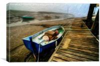 My Little Fishing Boat, Canvas Print