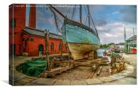 Boat for Sail, Canvas Print