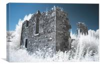 Pretty derelict infrared image, Canvas Print