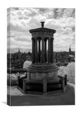 Calton Hill, Edinburgh, infrared, Canvas Print