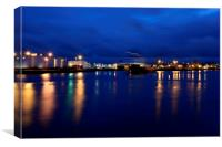Aberdeen harbour lights, Canvas Print