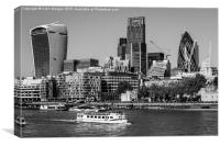 London City Skyline with The River Thames, Canvas Print