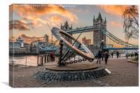 Tower Bridge Winter Sunset, Canvas Print