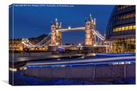 Tower Bridge & City Hall London, Canvas Print